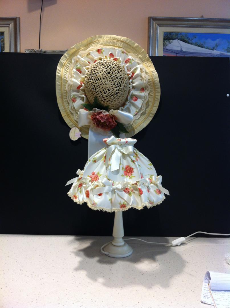 Creazioni artistiche lampada in tessuto elisa regali for Articoli per la casa milano