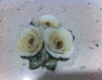 bomboniere: set 55 fiori in porcellana tipo Capodimonte