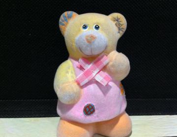 orso rosa bomboniera Battesimo offerta speciale