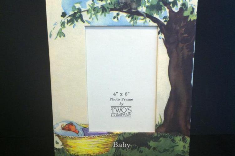 cornice porta foto bambino neonato