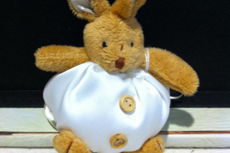 bomboniere: peluche porta confetti coniglio