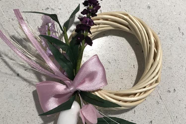 ghirlanda con fiori di lavanda bomboniere per matrimonio, Comunione, Cresima