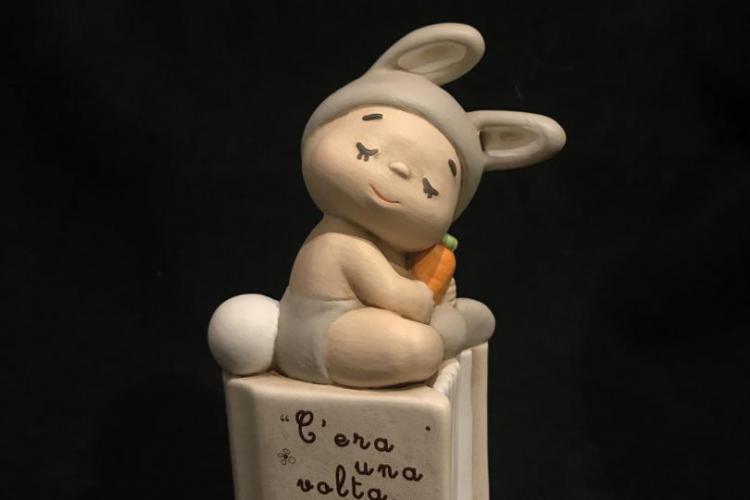Egan baby teneroni statua coniglietto bomboniera