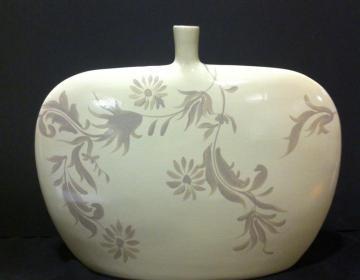 vaso ceramica floreale