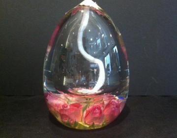 Le Bouquet: lampada ad olio con rosa vera