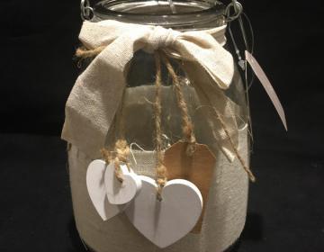 cupido vasetto con luci led per decorare tavole o confettate