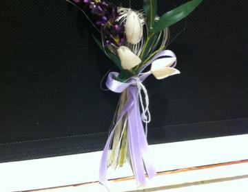 rametto di fiori di lavanda bomboniera