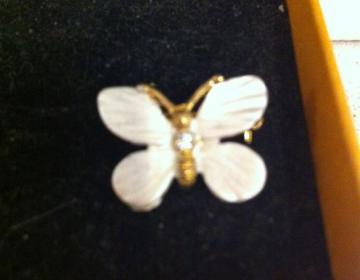 bomboniere matrimonio comunione: spilla farfalla