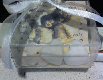 bomboniere scatola con pergamena