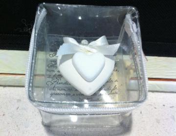 bomboniere: set 25 scatole plastica morbida con cerniera