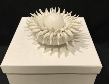 porta candele porcellana corallo bomboniera marina