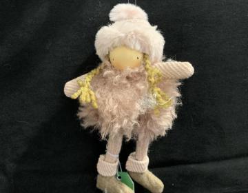 bambola da appendere rosa