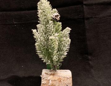 albero di Natale pino innevato mini